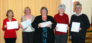 Basingstoke library staff with their awards
